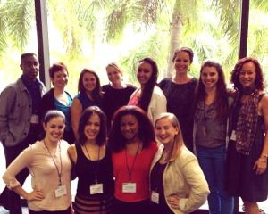 NDEO 2013 Rutgers group at breakfast cropped