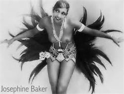 Josephine Baker Feather Skirt Photo