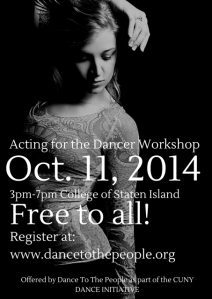 Acting for the Dancer Workshop