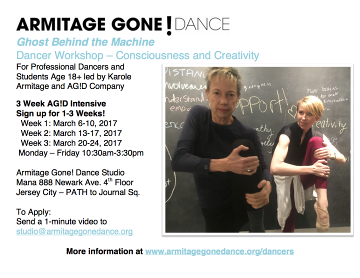 Armitage Gone! Dance March 2017 Dancer Workshop
