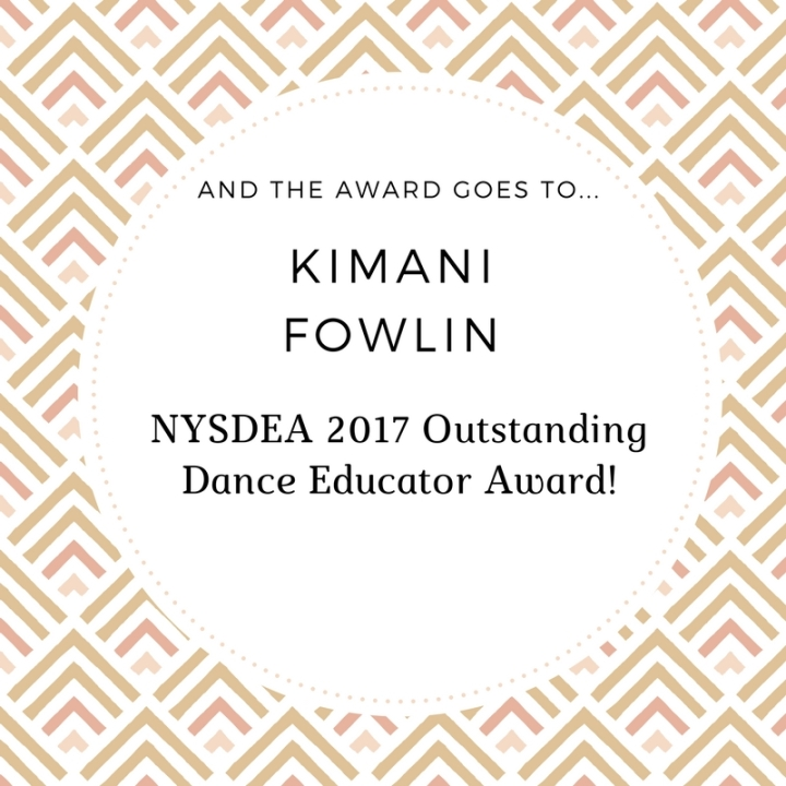 NYSDEA 2017 Outstanding Dance Educator Award!