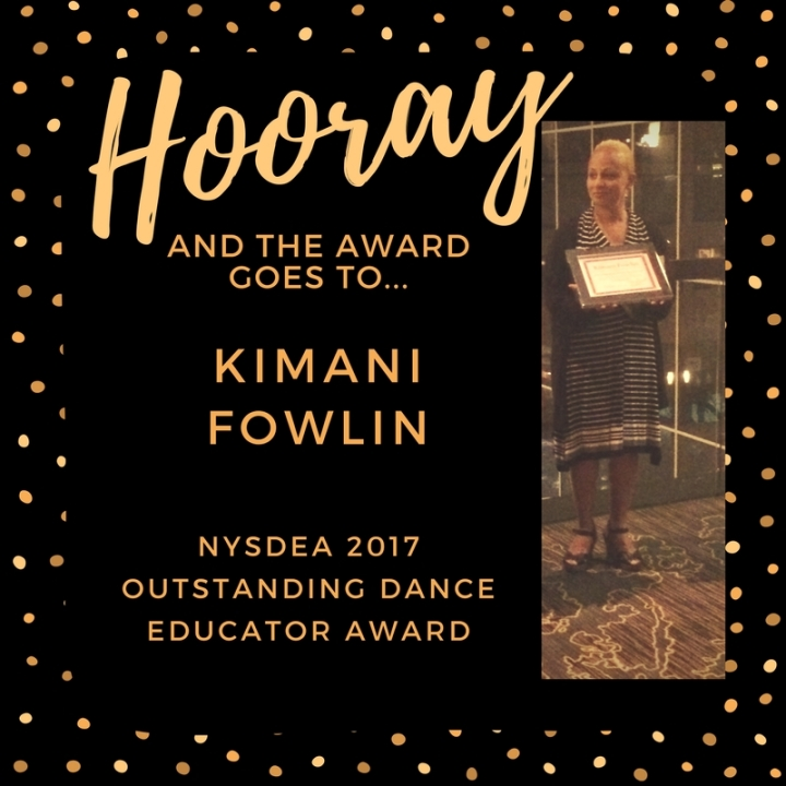 2 NYSDEA 2017 Outstanding Dance Educator Award!