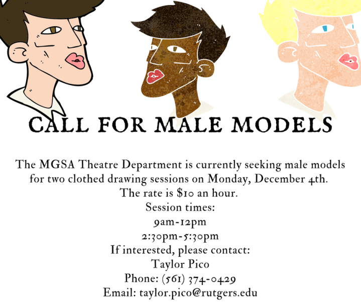 call for male models