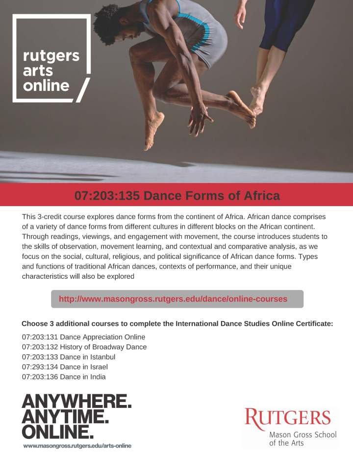 flyer Dance Forms of Africa Certificate