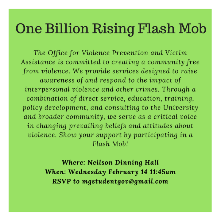 The Office for Violence Prevention and Victim Assistance is committed to creating a community free from