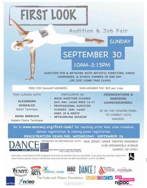 DanceNJ First Look Flyer