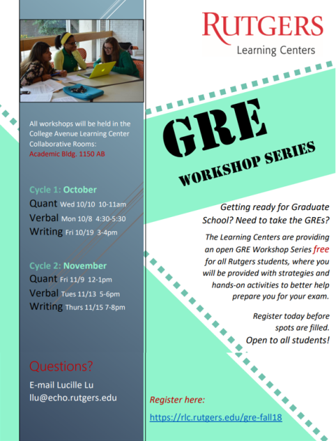 GRE Workshop Series