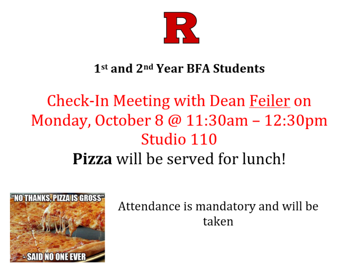 Pizza Lunch Flyer