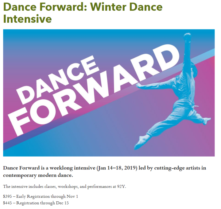 Dance Forward Winter Intensive 2019