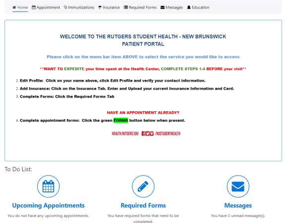 NB Student Health Portal.PNG