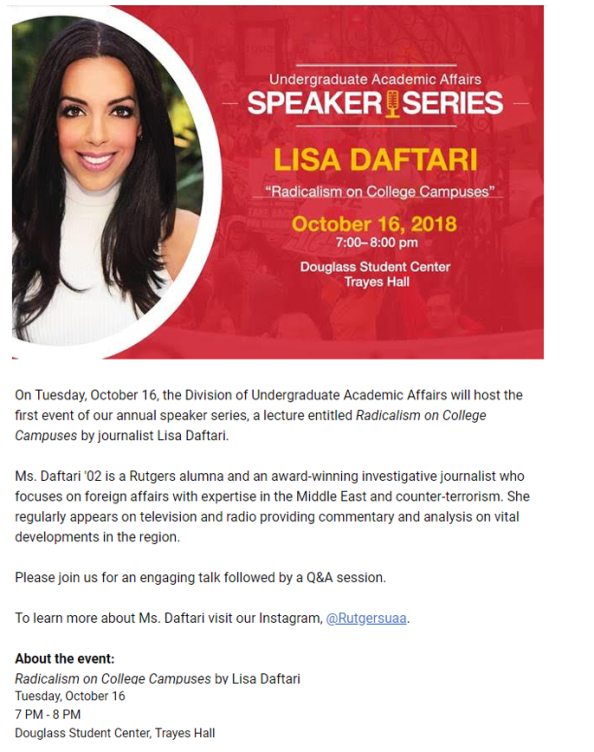 Speaker Series Lisa Daftari