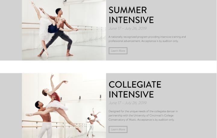 Cincinnati Ballet Summer Intensives