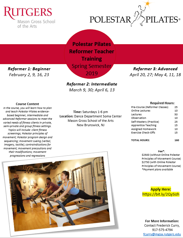 Polestar Pilates Reformer Teacher Training