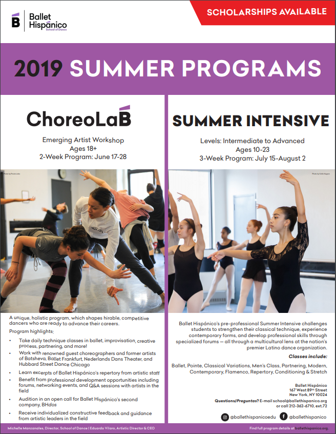 ballet hispanico 2019 summer programs