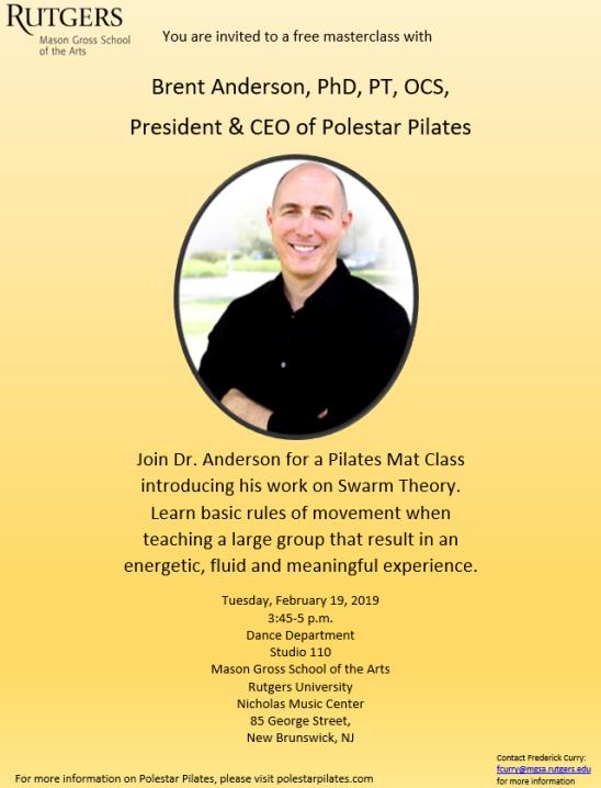 Brent Anderson Invitation Flyer