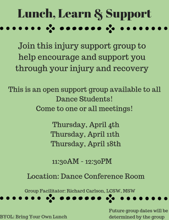 Lunch, Learn & Support - April