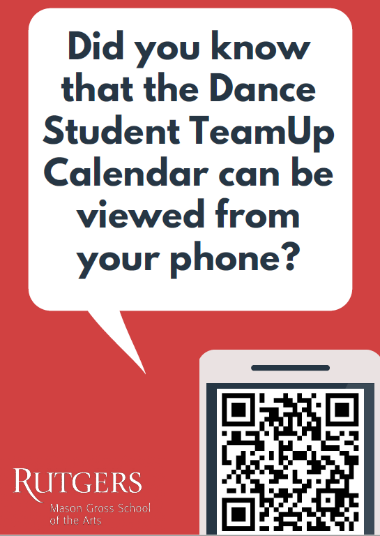 QR Code for Student TeamUp Calendar