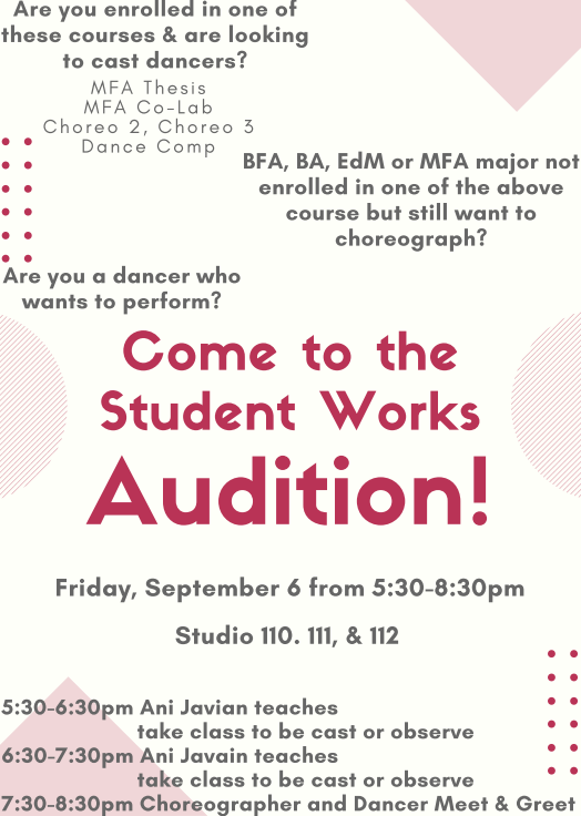 Student Works Audition Fall 2019