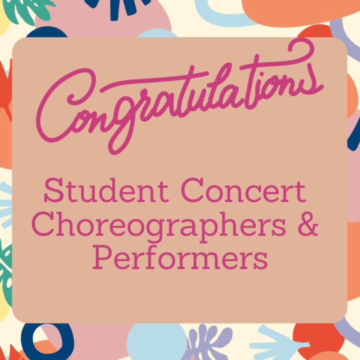Congrats Fall Dance Concert