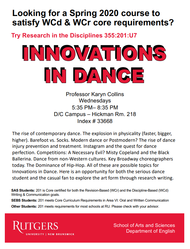 Innovations in Dance